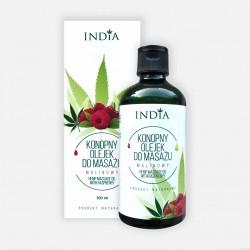 Konopny olejek do masażu INDIA (malinowy) 100 ml
