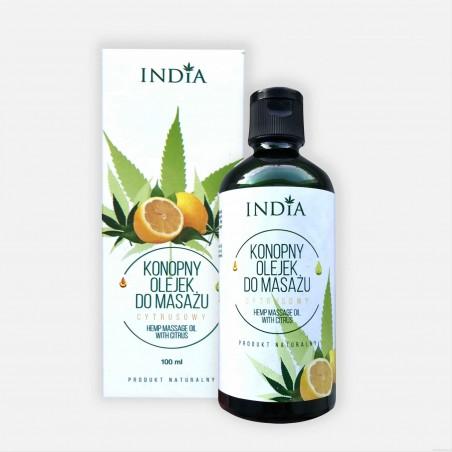 Konopny olejek do masażu INDIA (cytrusowy)100 ml