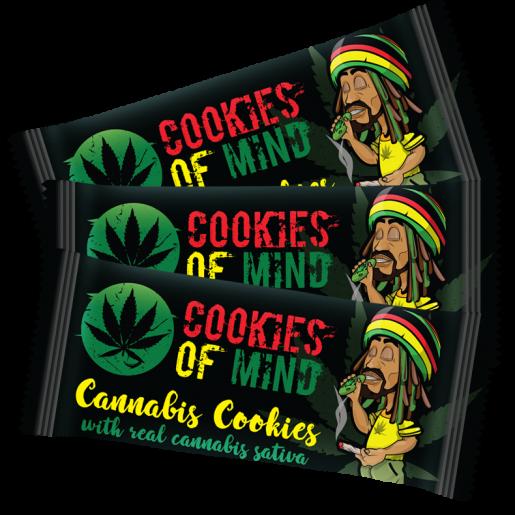 Ciasteczka Konopne Cookies of Mind OPAKOWANIE ZBIORCZE 32 szt.