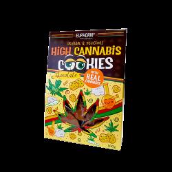 Ciasteczka konopne High Cannabis z czekoladą 100 g