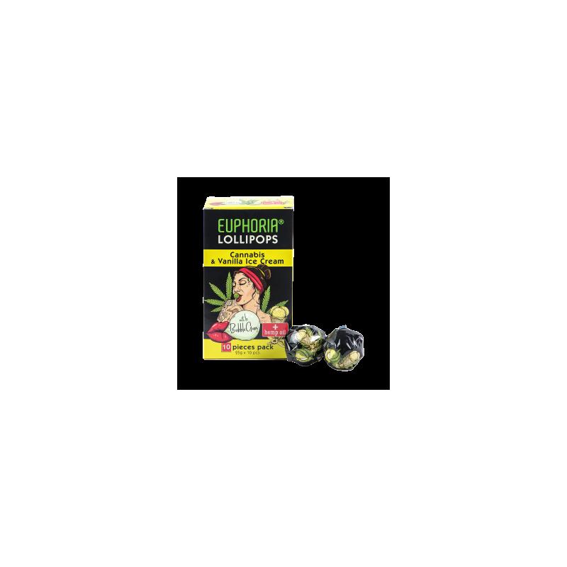 Lizaki o smaku konopi i lodów waniliowych z gumą do żucia 10 szt x 25 g