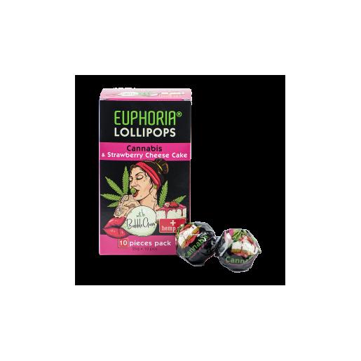 Lizaki o smaku konopi i sernika truskawkowego z gumą do żucia 10 szt. x 25 g