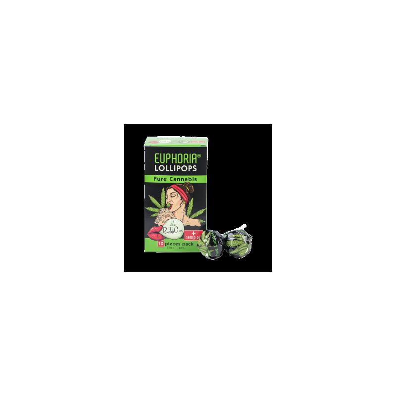 Lizaki o smaku konopi z gumą do żucia 10 szt x 25 g